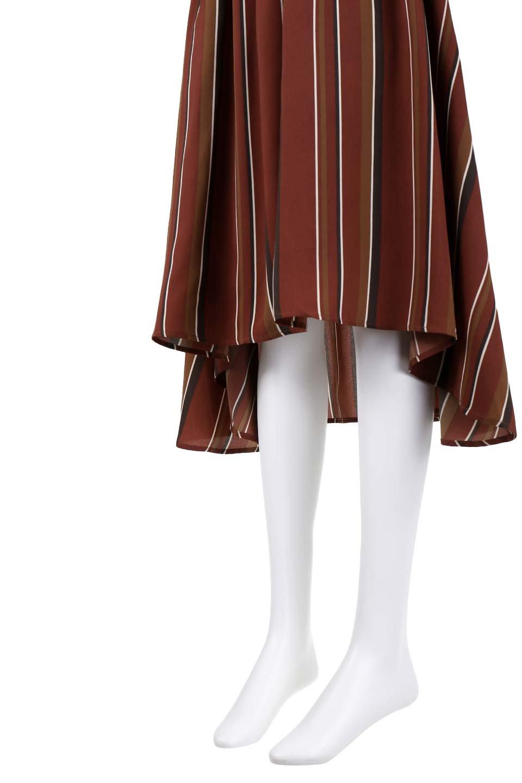 Multi-StripeFlaredSkirtマルチストライプ・スカート大人カジュアルに最適な海外ファッションのothers(その他インポートアイテム)のボトムやスカート。レトロな雰囲気のテールカットスカート。もはや定番人気のマルチストライプのアイテム。/main-9