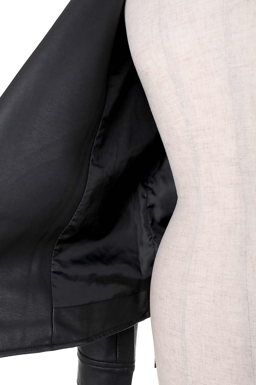 LaceUpBikersJacketレースアップ・ライダースジャケット大人カジュアルに最適な海外ファッションのothers(その他インポートアイテム)のアウターやジャケット。大きなリブの襟が特徴のニットコート。オーバーサイズ気味なデザインですが横に広がらず、それとは逆に体を細く見せるようなシルエット。/main-9