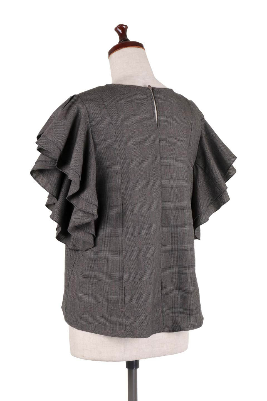 RuffleSleeveBlouseグレンチェックブラウス大人カジュアルに最適な海外ファッションのothers(その他インポートアイテム)のトップスやシャツ・ブラウス。今季注目のグレンチェックのアイテム。ヒラヒラのラッフルスリーブが可愛らしいブラウスです。/main-13