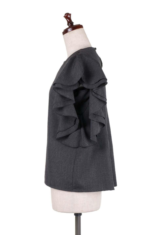 RuffleSleeveBlouseグレンチェックブラウス大人カジュアルに最適な海外ファッションのothers(その他インポートアイテム)のトップスやシャツ・ブラウス。今季注目のグレンチェックのアイテム。ヒラヒラのラッフルスリーブが可愛らしいブラウスです。/main-17