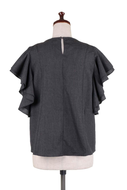 RuffleSleeveBlouseグレンチェックブラウス大人カジュアルに最適な海外ファッションのothers(その他インポートアイテム)のトップスやシャツ・ブラウス。今季注目のグレンチェックのアイテム。ヒラヒラのラッフルスリーブが可愛らしいブラウスです。/main-19