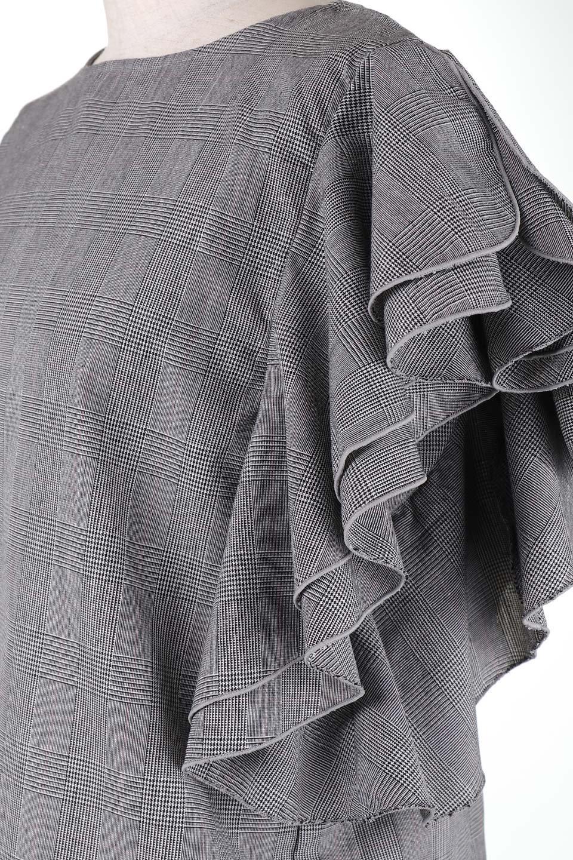 RuffleSleeveBlouseグレンチェックブラウス大人カジュアルに最適な海外ファッションのothers(その他インポートアイテム)のトップスやシャツ・ブラウス。今季注目のグレンチェックのアイテム。ヒラヒラのラッフルスリーブが可愛らしいブラウスです。/main-7