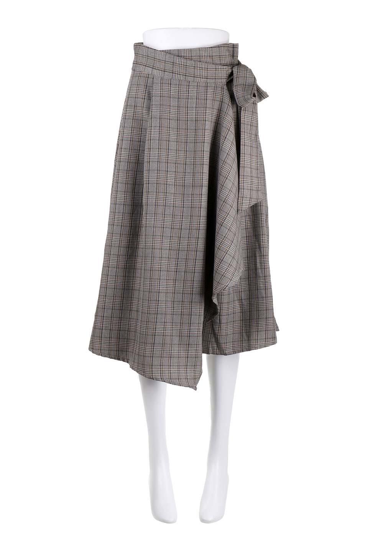 GlenCheckWrapSkirtグレンチェック・ラップスカート大人カジュアルに最適な海外ファッションのothers(その他インポートアイテム)のボトムやスカート。今季人気のグレンチェックのアイテム。ヒラヒラドレープが魅力の巻きスカートです。/main-10
