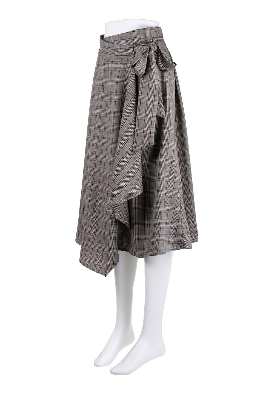 GlenCheckWrapSkirtグレンチェック・ラップスカート大人カジュアルに最適な海外ファッションのothers(その他インポートアイテム)のボトムやスカート。今季人気のグレンチェックのアイテム。ヒラヒラドレープが魅力の巻きスカートです。/main-11