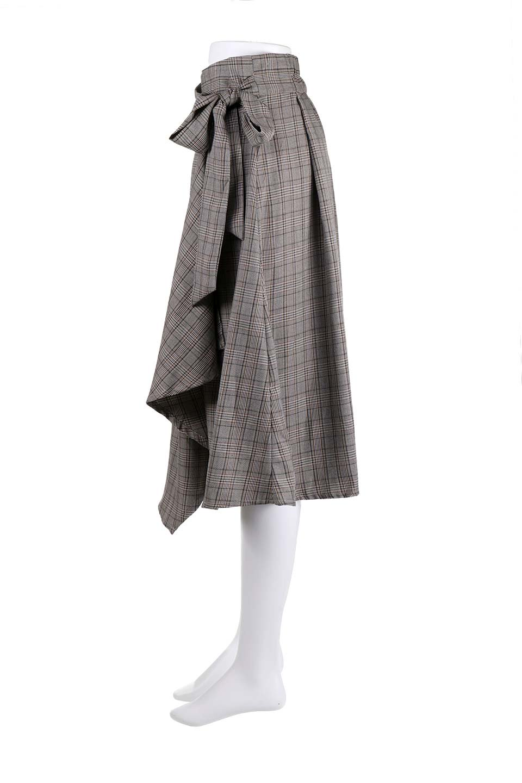 GlenCheckWrapSkirtグレンチェック・ラップスカート大人カジュアルに最適な海外ファッションのothers(その他インポートアイテム)のボトムやスカート。今季人気のグレンチェックのアイテム。ヒラヒラドレープが魅力の巻きスカートです。/main-12