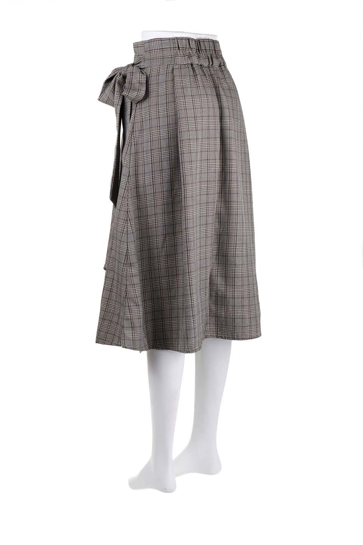 GlenCheckWrapSkirtグレンチェック・ラップスカート大人カジュアルに最適な海外ファッションのothers(その他インポートアイテム)のボトムやスカート。今季人気のグレンチェックのアイテム。ヒラヒラドレープが魅力の巻きスカートです。/main-13