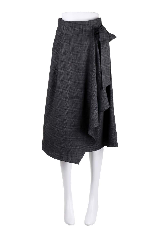 GlenCheckWrapSkirtグレンチェック・ラップスカート大人カジュアルに最適な海外ファッションのothers(その他インポートアイテム)のボトムやスカート。今季人気のグレンチェックのアイテム。ヒラヒラドレープが魅力の巻きスカートです。/main-15