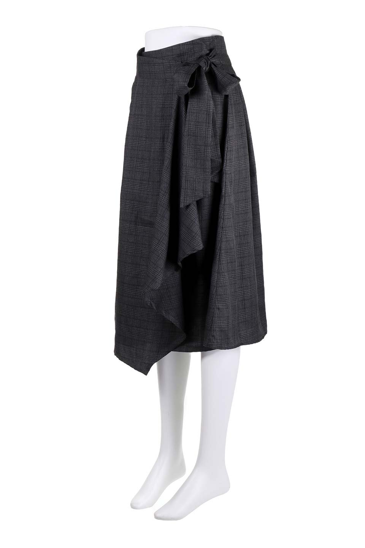 GlenCheckWrapSkirtグレンチェック・ラップスカート大人カジュアルに最適な海外ファッションのothers(その他インポートアイテム)のボトムやスカート。今季人気のグレンチェックのアイテム。ヒラヒラドレープが魅力の巻きスカートです。/main-16