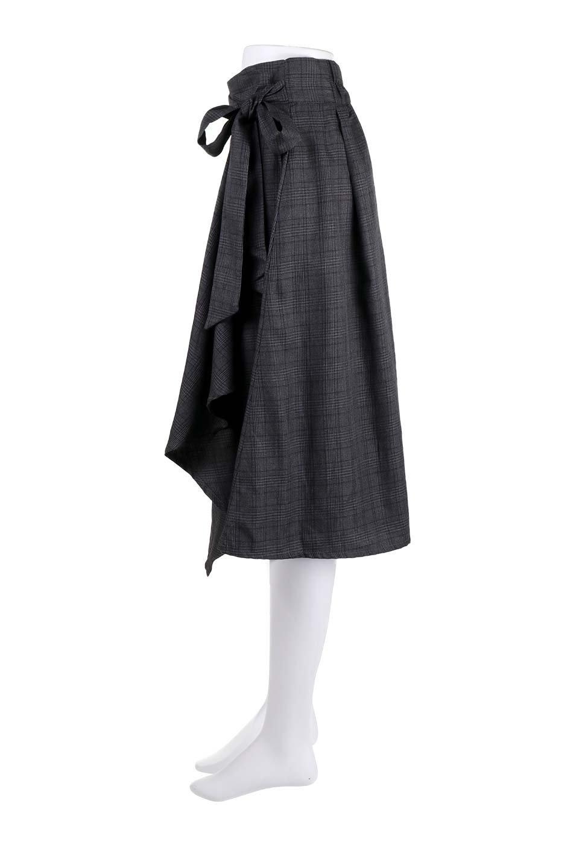 GlenCheckWrapSkirtグレンチェック・ラップスカート大人カジュアルに最適な海外ファッションのothers(その他インポートアイテム)のボトムやスカート。今季人気のグレンチェックのアイテム。ヒラヒラドレープが魅力の巻きスカートです。/main-17