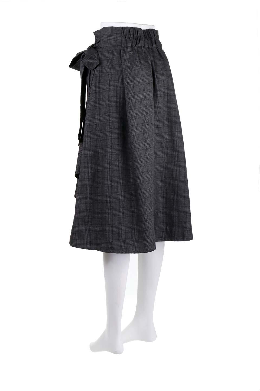 GlenCheckWrapSkirtグレンチェック・ラップスカート大人カジュアルに最適な海外ファッションのothers(その他インポートアイテム)のボトムやスカート。今季人気のグレンチェックのアイテム。ヒラヒラドレープが魅力の巻きスカートです。/main-18