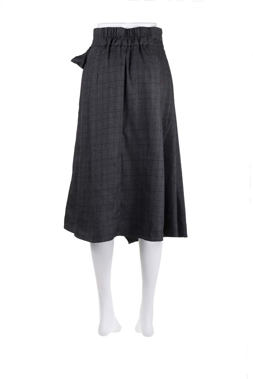 GlenCheckWrapSkirtグレンチェック・ラップスカート大人カジュアルに最適な海外ファッションのothers(その他インポートアイテム)のボトムやスカート。今季人気のグレンチェックのアイテム。ヒラヒラドレープが魅力の巻きスカートです。/main-19