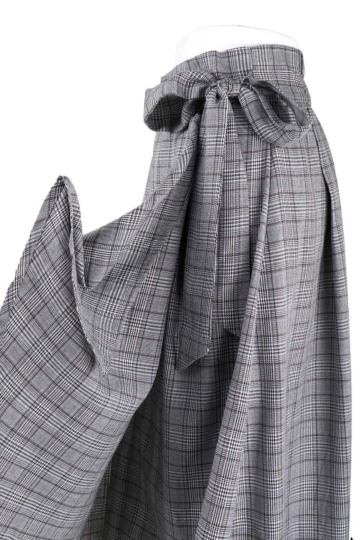 GlenCheckWrapSkirtグレンチェック・ラップスカート大人カジュアルに最適な海外ファッションのothers(その他インポートアイテム)のボトムやスカート。今季人気のグレンチェックのアイテム。ヒラヒラドレープが魅力の巻きスカートです。/main-7