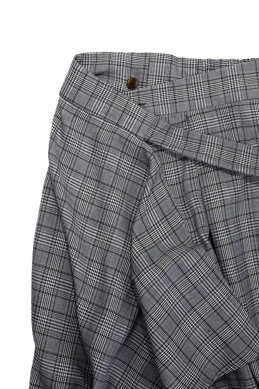 GlenCheckWrapSkirtグレンチェック・ラップスカート大人カジュアルに最適な海外ファッションのothers(その他インポートアイテム)のボトムやスカート。今季人気のグレンチェックのアイテム。ヒラヒラドレープが魅力の巻きスカートです。/main-9