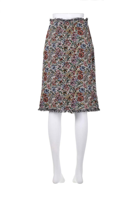 FringeSemiTightSkirt花柄ゴブラン織りスカート大人カジュアルに最適な海外ファッションのothers(その他インポートアイテム)のボトムやスカート。落ち着いた配色の花柄が可愛いセミタイトスカート。厚めの生地でタイト目のシルエットですがラップスカートなので窮屈さはあまりありません。/main-14