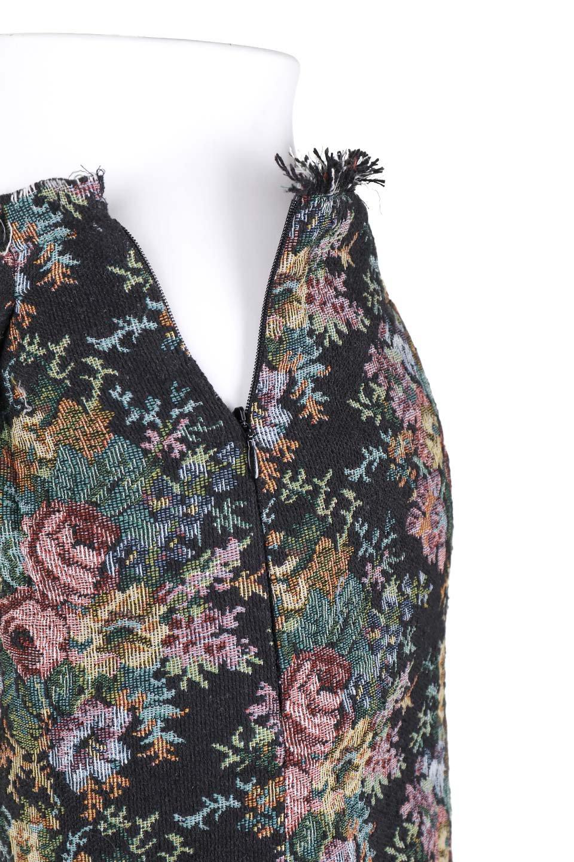 FringeSemiTightSkirt花柄ゴブラン織りスカート大人カジュアルに最適な海外ファッションのothers(その他インポートアイテム)のボトムやスカート。落ち着いた配色の花柄が可愛いセミタイトスカート。厚めの生地でタイト目のシルエットですがラップスカートなので窮屈さはあまりありません。/main-6