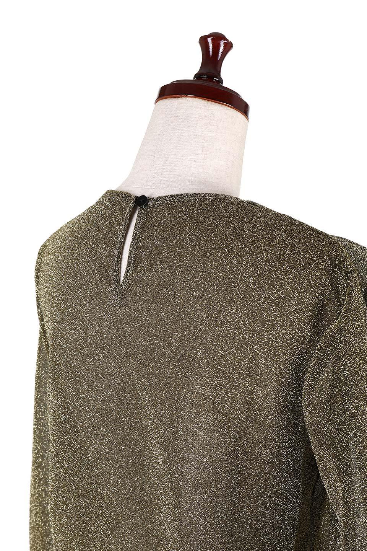 FrillTrimGlitterKnitTopラメニット・フリルブラウス大人カジュアルに最適な海外ファッションのothers(その他インポートアイテム)のトップスやシャツ・ブラウス。レトロな雰囲気のフリルブラウス。シックで落ち着いたトーンのゴールドがゴージャス感とレトロ感を醸し出します。/main-6