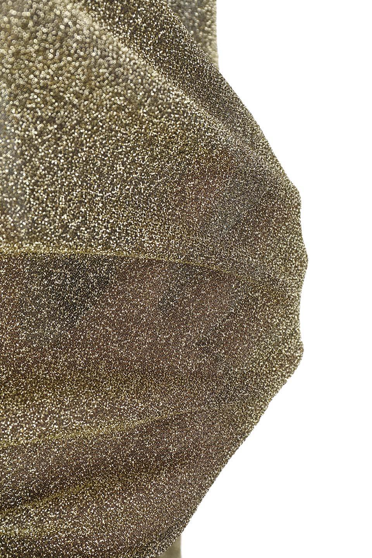 FrillTrimGlitterKnitTopラメニット・フリルブラウス大人カジュアルに最適な海外ファッションのothers(その他インポートアイテム)のトップスやシャツ・ブラウス。レトロな雰囲気のフリルブラウス。シックで落ち着いたトーンのゴールドがゴージャス感とレトロ感を醸し出します。/main-9