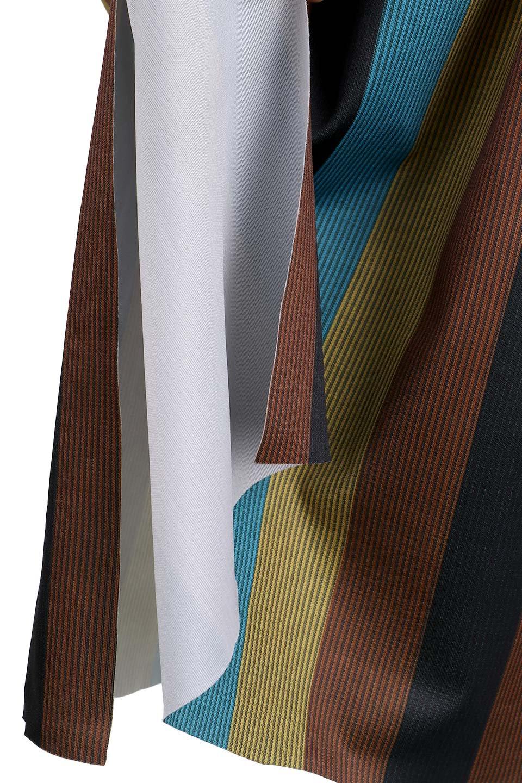 MulticolorStripeTieWaistDressマルチストライプ・レトロワンピース大人カジュアルに最適な海外ファッションのothers(その他インポートアイテム)のワンピースやミディワンピース。大ぶりなマルチストライプが可愛いミディワンピース。若干光沢のある生地がシックなイメージのアイテム。/main-8