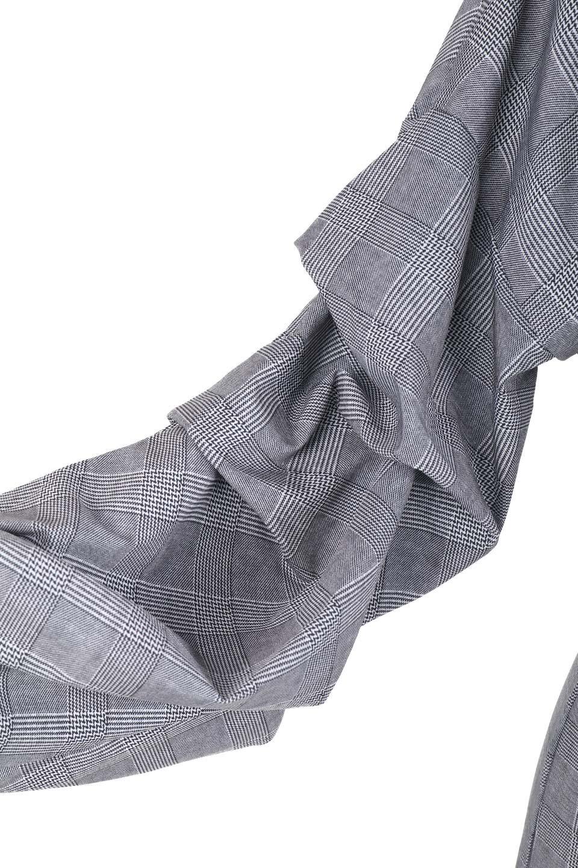 GlencheckRuchedSleeveDressグレンチェック・ワンピース大人カジュアルに最適な海外ファッションのothers(その他インポートアイテム)のワンピースやミディワンピース。ボリューム感のある袖が特徴のグレンチェックのワンピース。グレンチェックは今季大注目の柄。/main-8