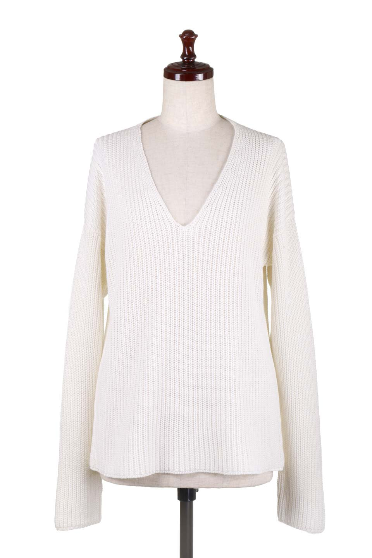 WashedV-neckPulloverウォッシュ加工・Vネックセーター大人カジュアルに最適な海外ファッションのothers(その他インポートアイテム)のトップスやニット・セーター。シンプルデザインのVネックのルーズセーター。ウォッシュ加工が魅力のこのセーターは、コットンなので春先まで楽しめます。/main-10