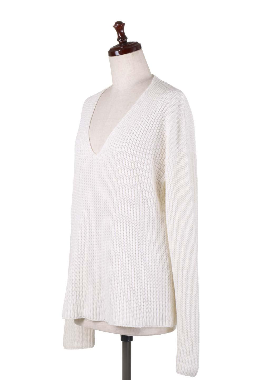 WashedV-neckPulloverウォッシュ加工・Vネックセーター大人カジュアルに最適な海外ファッションのothers(その他インポートアイテム)のトップスやニット・セーター。シンプルデザインのVネックのルーズセーター。ウォッシュ加工が魅力のこのセーターは、コットンなので春先まで楽しめます。/main-11