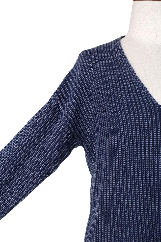 WashedV-neckPulloverウォッシュ加工・Vネックセーター大人カジュアルに最適な海外ファッションのothers(その他インポートアイテム)のトップスやニット・セーター。シンプルデザインのVネックのルーズセーター。ウォッシュ加工が魅力のこのセーターは、コットンなので春先まで楽しめます。/main-7