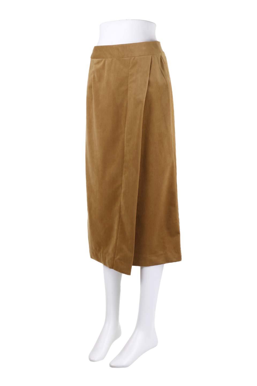 VelveteenWrapSkirtベッチン素材ラップスカート大人カジュアルに最適な海外ファッションのothers(その他インポートアイテム)のボトムやスカート。肌触りの良い別珍素材のラップスカート。スタイルが良く見えるペンシルスカートタイプのシルエットで、ヒールの高いパンプスでもカジュアルなスニーカーでもOK。/main-10