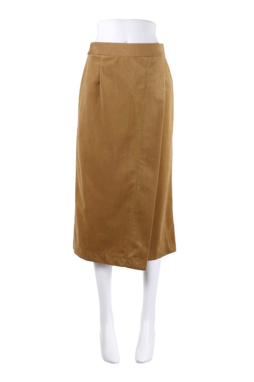 VelveteenWrapSkirtベッチン素材ラップスカート大人カジュアルに最適な海外ファッションのothers(その他インポートアイテム)のボトムやスカート。肌触りの良い別珍素材のラップスカート。スタイルが良く見えるペンシルスカートタイプのシルエットで、ヒールの高いパンプスでもカジュアルなスニーカーでもOK。/main-14