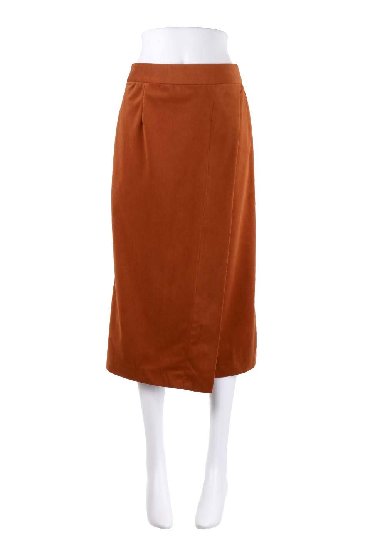 VelveteenWrapSkirtベッチン素材ラップスカート大人カジュアルに最適な海外ファッションのothers(その他インポートアイテム)のボトムやスカート。肌触りの良い別珍素材のラップスカート。スタイルが良く見えるペンシルスカートタイプのシルエットで、ヒールの高いパンプスでもカジュアルなスニーカーでもOK。/main-15