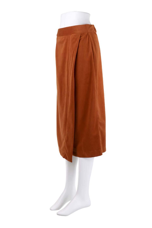 VelveteenWrapSkirtベッチン素材ラップスカート大人カジュアルに最適な海外ファッションのothers(その他インポートアイテム)のボトムやスカート。肌触りの良い別珍素材のラップスカート。スタイルが良く見えるペンシルスカートタイプのシルエットで、ヒールの高いパンプスでもカジュアルなスニーカーでもOK。/main-17