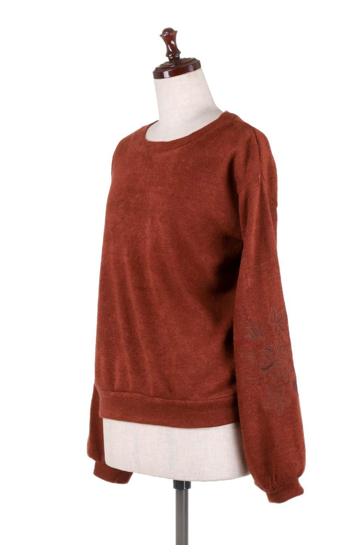 EmbroideredSleeveSoftknitTop刺繍入り・ソフトニットトップス大人カジュアルに最適な海外ファッションのothers(その他インポートアイテム)のトップスやニット・セーター。刺繍入りのボリューミーな袖が可愛いトップス。なめらかでソフトな生地感です。/main-11