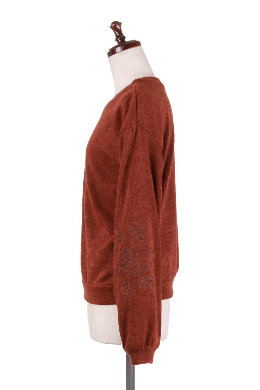 EmbroideredSleeveSoftknitTop刺繍入り・ソフトニットトップス大人カジュアルに最適な海外ファッションのothers(その他インポートアイテム)のトップスやニット・セーター。刺繍入りのボリューミーな袖が可愛いトップス。なめらかでソフトな生地感です。/main-12
