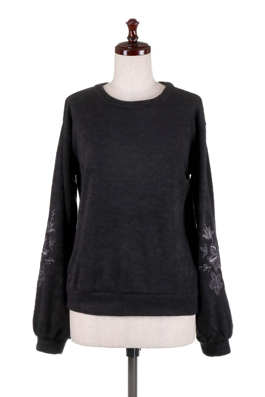 EmbroideredSleeveSoftknitTop刺繍入り・ソフトニットトップス大人カジュアルに最適な海外ファッションのothers(その他インポートアイテム)のトップスやニット・セーター。刺繍入りのボリューミーな袖が可愛いトップス。なめらかでソフトな生地感です。/main-15