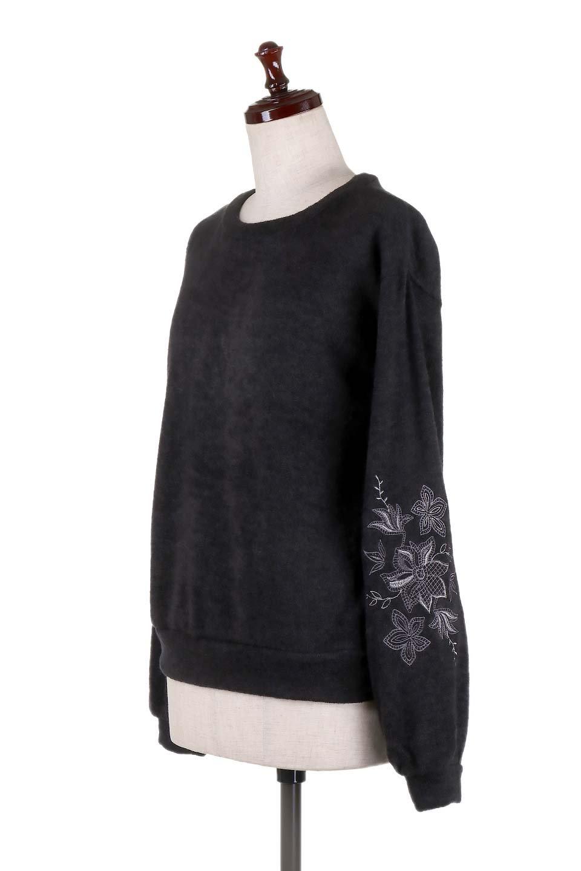 EmbroideredSleeveSoftknitTop刺繍入り・ソフトニットトップス大人カジュアルに最適な海外ファッションのothers(その他インポートアイテム)のトップスやニット・セーター。刺繍入りのボリューミーな袖が可愛いトップス。なめらかでソフトな生地感です。/main-16