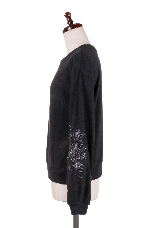 EmbroideredSleeveSoftknitTop刺繍入り・ソフトニットトップス大人カジュアルに最適な海外ファッションのothers(その他インポートアイテム)のトップスやニット・セーター。刺繍入りのボリューミーな袖が可愛いトップス。なめらかでソフトな生地感です。/main-17