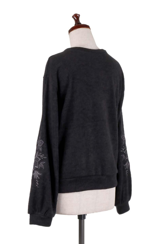 EmbroideredSleeveSoftknitTop刺繍入り・ソフトニットトップス大人カジュアルに最適な海外ファッションのothers(その他インポートアイテム)のトップスやニット・セーター。刺繍入りのボリューミーな袖が可愛いトップス。なめらかでソフトな生地感です。/main-18