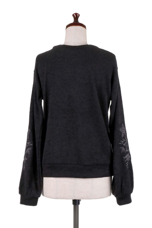 EmbroideredSleeveSoftknitTop刺繍入り・ソフトニットトップス大人カジュアルに最適な海外ファッションのothers(その他インポートアイテム)のトップスやニット・セーター。刺繍入りのボリューミーな袖が可愛いトップス。なめらかでソフトな生地感です。/main-19