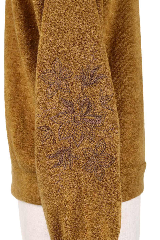 EmbroideredSleeveSoftknitTop刺繍入り・ソフトニットトップス大人カジュアルに最適な海外ファッションのothers(その他インポートアイテム)のトップスやニット・セーター。刺繍入りのボリューミーな袖が可愛いトップス。なめらかでソフトな生地感です。/main-7