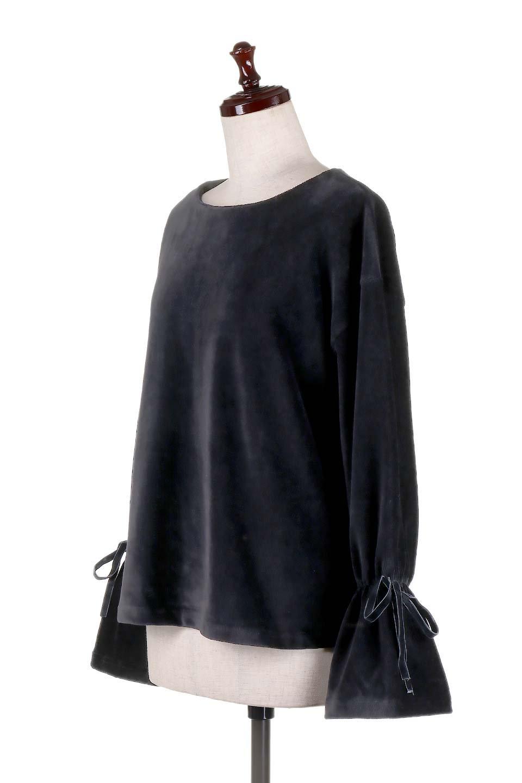 FineCorduroySoftTopリボンスリーブ・コーデュロイトップス大人カジュアルに最適な海外ファッションのothers(その他インポートアイテム)のトップスやシャツ・ブラウス。ベロアの様な柔らかさの細うねコーデュロイのトップス。適度なルーズさと着丈の長さでボトムの合わせに困る事はなさそうです。/main-16