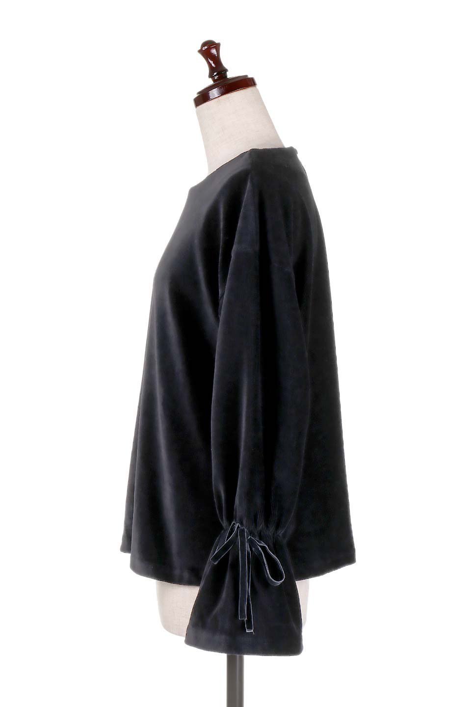 FineCorduroySoftTopリボンスリーブ・コーデュロイトップス大人カジュアルに最適な海外ファッションのothers(その他インポートアイテム)のトップスやシャツ・ブラウス。ベロアの様な柔らかさの細うねコーデュロイのトップス。適度なルーズさと着丈の長さでボトムの合わせに困る事はなさそうです。/main-17