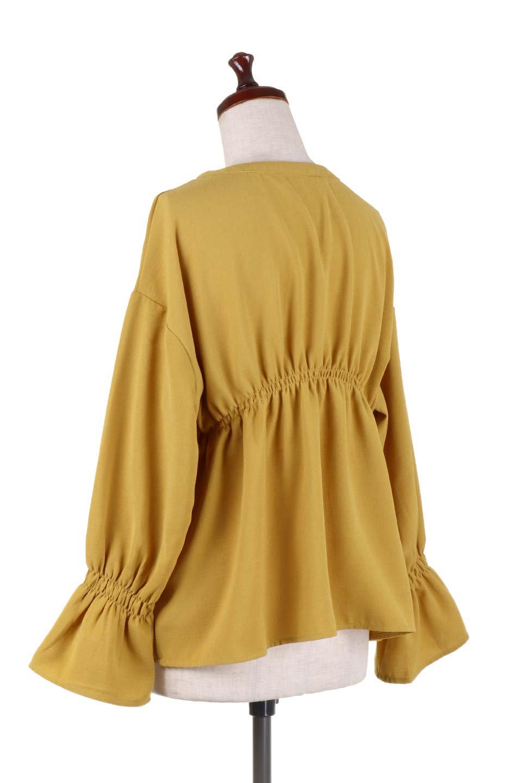 CandyballoonSleeveBlouseキャンディースリーブ・シャーリングブラウス大人カジュアルに最適な海外ファッションのothers(その他インポートアイテム)のトップスやシャツ・ブラウス。キャンディースリーブが可愛いシャーリングのブラウス。サラリとした素材感が人気のジョーゼットを2枚重ねた生地を使用しています。/main-13