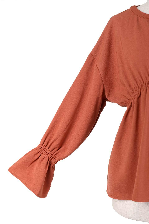 CandyballoonSleeveBlouseキャンディースリーブ・シャーリングブラウス大人カジュアルに最適な海外ファッションのothers(その他インポートアイテム)のトップスやシャツ・ブラウス。キャンディースリーブが可愛いシャーリングのブラウス。サラリとした素材感が人気のジョーゼットを2枚重ねた生地を使用しています。/main-8