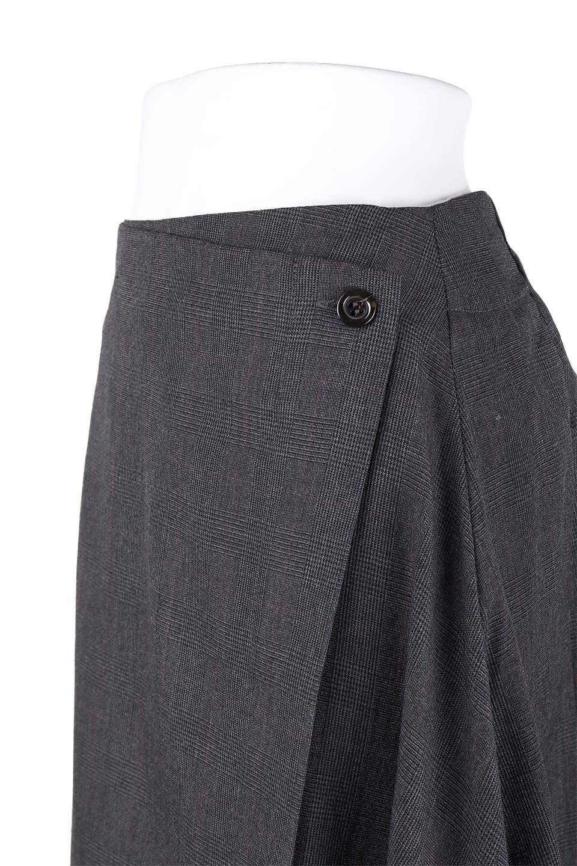 GlenCheckAsymmetricalWrapSkirtグレンチェック・ラップスカート大人カジュアルに最適な海外ファッションのothers(その他インポートアイテム)のボトムやスカート。今季人気のグレンチェックのスカート。ヒラヒラドレープが魅力のアシメントリータイプの巻きスカートです。/main-5