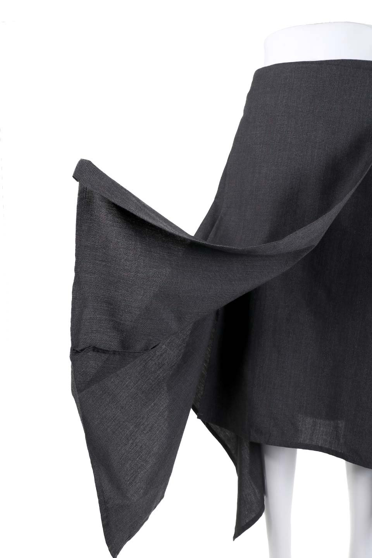 GlenCheckAsymmetricalWrapSkirtグレンチェック・ラップスカート大人カジュアルに最適な海外ファッションのothers(その他インポートアイテム)のボトムやスカート。今季人気のグレンチェックのスカート。ヒラヒラドレープが魅力のアシメントリータイプの巻きスカートです。/main-9