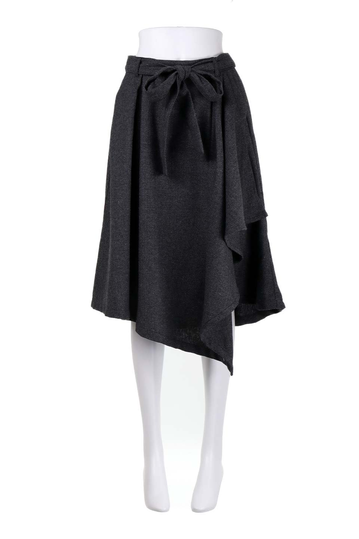 HerringboneWrapSkirtヘリンボーンラップスカート大人カジュアルに最適な海外ファッションのothers(その他インポートアイテム)のボトムやスカート。ツイードの様なヘリンボーン生地のラップスカート。アシメントリーなデザインのフレアタイプのスカートです。/main-10