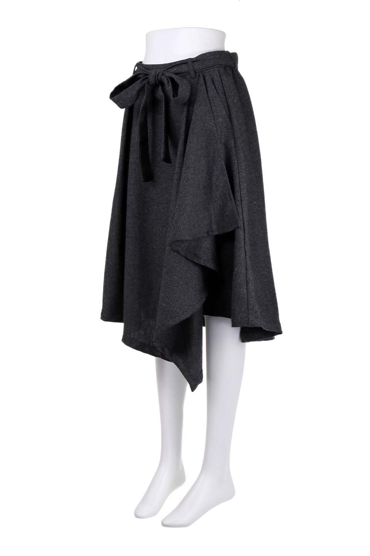 HerringboneWrapSkirtヘリンボーンラップスカート大人カジュアルに最適な海外ファッションのothers(その他インポートアイテム)のボトムやスカート。ツイードの様なヘリンボーン生地のラップスカート。アシメントリーなデザインのフレアタイプのスカートです。/main-11