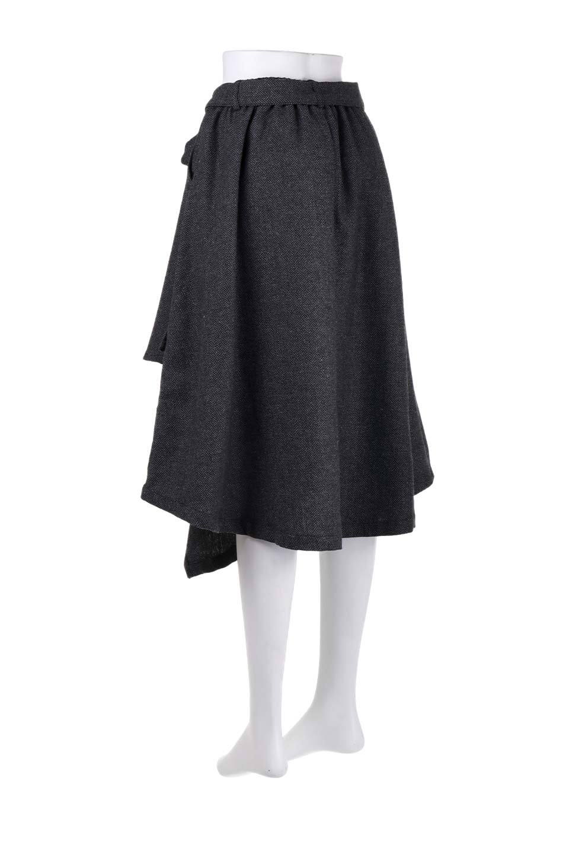 HerringboneWrapSkirtヘリンボーンラップスカート大人カジュアルに最適な海外ファッションのothers(その他インポートアイテム)のボトムやスカート。ツイードの様なヘリンボーン生地のラップスカート。アシメントリーなデザインのフレアタイプのスカートです。/main-13