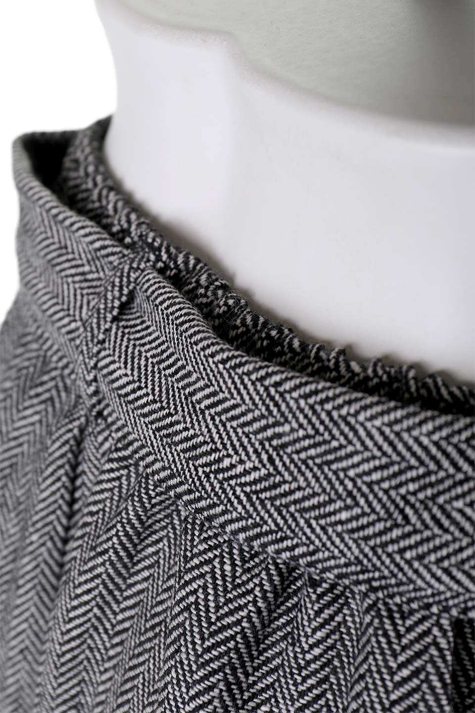 HerringboneWrapSkirtヘリンボーンラップスカート大人カジュアルに最適な海外ファッションのothers(その他インポートアイテム)のボトムやスカート。ツイードの様なヘリンボーン生地のラップスカート。アシメントリーなデザインのフレアタイプのスカートです。/main-6