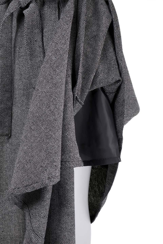 HerringboneWrapSkirtヘリンボーンラップスカート大人カジュアルに最適な海外ファッションのothers(その他インポートアイテム)のボトムやスカート。ツイードの様なヘリンボーン生地のラップスカート。アシメントリーなデザインのフレアタイプのスカートです。/main-8