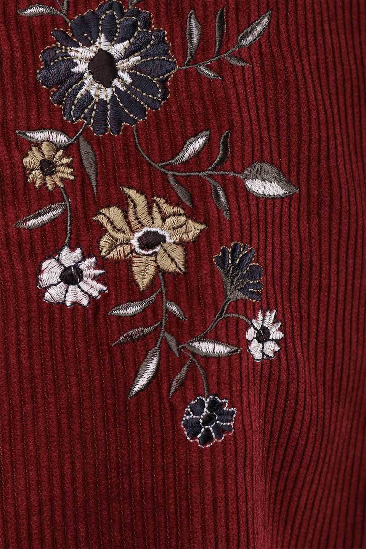 WideWaleCorduroyFloralEmbro.Skirt花刺繍入りコーデュロイスカート大人カジュアルに最適な海外ファッションのothers(その他インポートアイテム)のボトムやスカート。温かみのある太うねコーデュロイの刺繍スカート。秋冬大人気の素材、太うねコーデュロイを使用したエレガント&カジュアルなアイテムです。/main-8